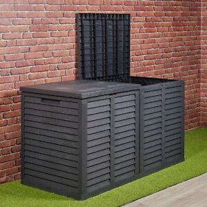 Large 750L Garden Storage Outdoor Box Plastic Utility Chest Unit Box Waterproof