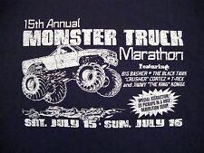15th Annual Monster Trucks Marathon Demolition Derby Monstertrucks T Shirt XL