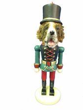 Saint Bernard Dog Soldier Holiday NUTCRACKER ORNAMENT