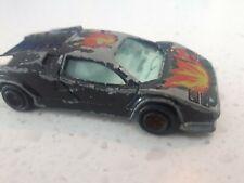 Vintage Majorette Black Lamborghini No 237 Die Cast Car