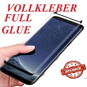 Panzerfolie Vollklebend Samsung Galaxy S8 S9 Plus Schutzglas 9H Full Glue Glas