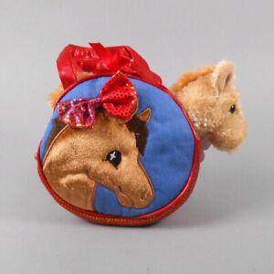Aurora Fancy Pals Pet Carrier Pretty Pony Plush Animal Toy #32610 NWT