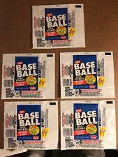 Fleer Baseball Wax Wrappers, 1985, 5 Total