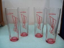 """4 Budweiser Beer Bowtie Buds for you Red Light Optical Illusion 7"""" Glasses"""