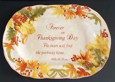 222 Fifth Autumn Celebration Forever Oval Serving Platter New