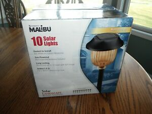 Intermatic MALIBU 10 Solar Lights Amber LED Model LZ421-10