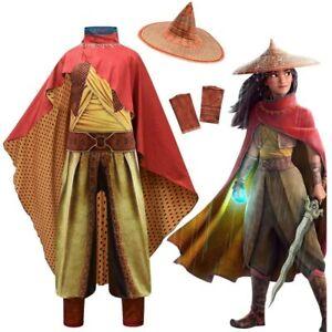 Kids Raya And The Last Dragon Raya Cosplay Battle Outfit Cloak Dragon Costume