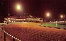 Saratoga Spring, New York Saratoga Raceway-Race Track at Night 1967 Postcard