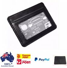 Mens Leather Wallet,Slim Card Holder In Black,Small Wallet,Australian Seller