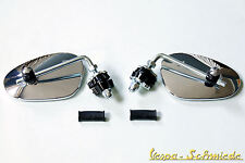 Vespa Mirror Legshield Left & Right - Chrome - V50 Px Pk Lambretta NSU Scooter