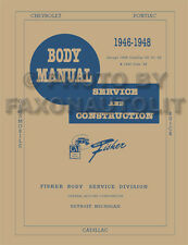 1946 1947 1948 Pontiac Body Repair Shop Manual Streamliner Torpedo Silver Streak