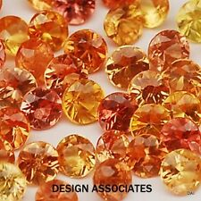 NATURAL FINE MANDARIN ORANGE SPESSARTITE 3 MM ROUND TOP GRADE