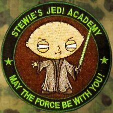 ZHT GEAR: STEWIE'S JEDI ACADEMY PATCH ~ FAMILY GUY / STAR WARS / THE FORCE