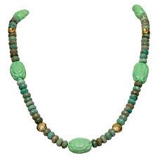 Kette Collier Chrysopras Sterlingsilber Schmuck handgefertigt Necklace