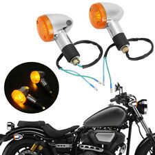 2Pcs Bullet Motorcycle Turn Signal Light Indicators Blinkers Amber Yellow