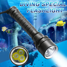 Waterproof Underwater 100m 3xLED Scuba Diving Flashlight Torch Light 6000lm HOT