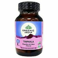 2 X ORGANIC INDIA Triphala 60 Capsules bottle Veg Certified Organic FREE SHIP