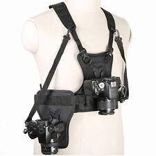 For Micnova Multi-Camera DSLR Carrier Multifunctional Chest Harness Holster Belt
