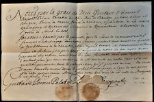 PRINCE PALATINE GUSTAVE SAMUEL LEOPOLD AUTOGRAPH ON RECOMMENDATION LETTER - 1726