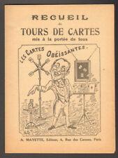 Recueil de Tours de Cartes. Mayette. Vers 1910