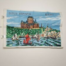 "New listing Chateau Frontenac Quebec City Canada Pure Linen Tea Towel Appx 20.5 x 31"""