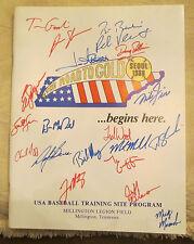 RARE 1988 TEAM USA GOLD MEDAL WINNERS TEAM SIGNED AUTO PROGRAM