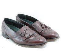 Vintage Florsheim Imperial Brogue Leather Kiltie Tassel Loafers Men's 11.5 Shoes