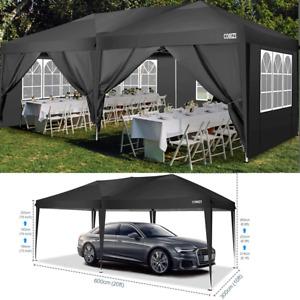 3x6M Heavy Duty Pop Up Gazebo Marquee Canopy Waterproof Garden Patio Party Tent