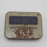 Vintage Sucrets Lozenges Metal Tin