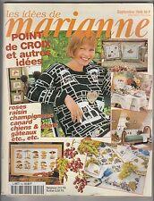 Les idées de Marianne N°52 septembre 1998 point de croix , tricot