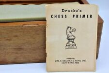 Vintage Drueke Model 4466 Chess Set in Walnut Box - With Paperwork