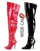 Beverly Gold Stretch Spandex OTK Thigh Stocking High Heel Boots 6-11