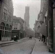 BRUGES c. 1900 - Grand Négatif Rue aux Laines Belgique - FD 129