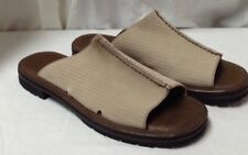 COLE HAAN CORDUROY SLIDE MULE CLOG SANDAL SHOE 10 B Made In Brazil P9468