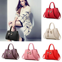 Women Lady Leather Handbags Shoulder Messenger Satchel Tote Crossbody Bags Purse