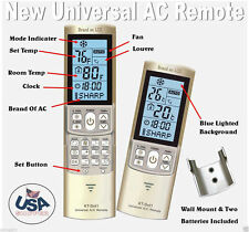 Mini Split A/C Remote Control Fits Most Carrier, Daikin, Gree, Haier, Mitsubishi