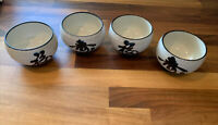Serving Bowls Sauce Ceramic Round Small Heel Restaurant Home SET 4 Japan China