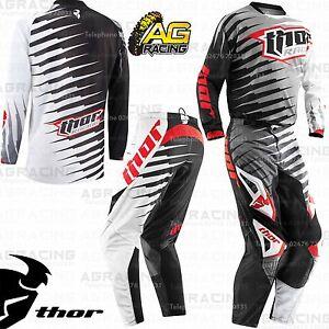 "Thor Vented Rift Grey Black Race SM Jersey 28"" Pants Kit Motocross Enduro ATV"