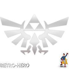 Zelda Aufkleber Vinyl Dreieck Nintendo Sticker Triforce Logo Silber 13x8 cm #2