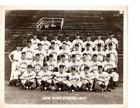 1947 NEW YORK GIANTS 8X10 TEAM PHOTO BASEBALL MIZE THOMSON JANSEN HOF USA
