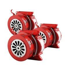 HANDHELD LOUD HAND CRANK MANUAL OPERATED AIR RAID ALARM PORTABLE SIREN RED new