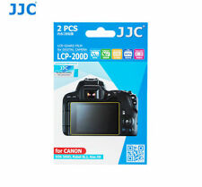 JJC LCP-200D Screen Guard Protector PET Film for CANON Rebel SL2 Digital Camera