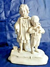 Personnages en biscuit anciens  numéroté Enfants  Porcelaine