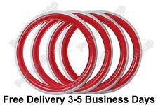 "13"" Red White wall Portawall Tyre insert Trim Set of 4 FREE DHL SHIP"