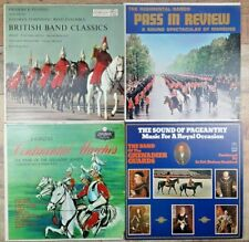 Lot of 4 Vintage British Military Band & Pageantry Vinyl LP Records