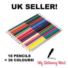 FABER-Castell Matite bi-colore - 36 colori (pacco da 18) come STAEDTLER Crayola