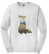 Fox Nature Tshirt Long Sleeve Double Exposure Animal Pinterest Hills Hipster Top