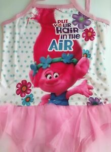 Girl Kid Child Pink Trolls Swim Swimmer Tutu Lace Bather Swimwear Dress togs