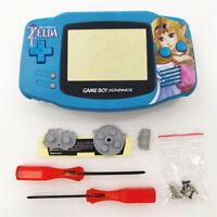 Zelda Princess Shell Case Housing for Nintendo Game Boy Advance GBA - Light Blue