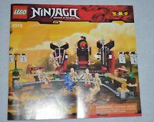 LEGO NINJAGO MASTERS OF SPIJITZU  # 2519 MANUAL ONLY